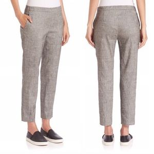 Theory | Light Gray Pull On Linen Pants